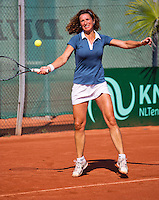 Netherlands, Amstelveen, August 23, 2015, Tennis,  National Veteran Championships, NVK, TV de Kegel,  Lady's single final 45+ years: Mariëlle Spekreijse<br /> Photo: Tennisimages/Henk Koster