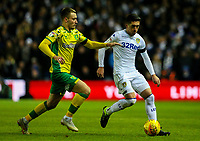 Leeds United's Pablo Hernandez gets away Norwich City's Tom Trybull<br /> <br /> Photographer Alex Dodd/CameraSport<br /> <br /> The EFL Sky Bet Championship - Leeds United v Norwich City - Saturday 2nd February 2019 - Elland Road - Leeds<br /> <br /> World Copyright © 2019 CameraSport. All rights reserved. 43 Linden Ave. Countesthorpe. Leicester. England. LE8 5PG - Tel: +44 (0) 116 277 4147 - admin@camerasport.com - www.camerasport.com