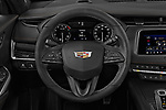 Car pictures of steering wheel view of a 2019 Cadillac XT4 Sport 5 Door SUV Steering Wheel
