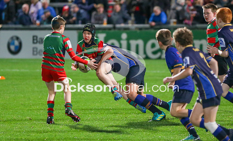 27th September 2019   Ulster vs Ospreys<br /> <br /> Mini-rugby during the opening PRO14 League clash between Ulster Rugby and the Ospreys at Kingspan Stadium, Ravenhill Park, Belfast, Northern Ireland. Photo by John Dickson / DICKSONDIGITAL