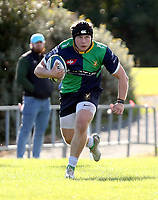 Saturday 10th October 2020 | Ballynahinch vs Queens<br /> <br /> Zack McCall on the attack during the Energia Community Series clash between Ballynahinch and Queens at Ballymacarn Park, Ballynahinch, County Down, Northern Ireland. Photo by John Dickson / Dicksondigital