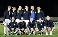 USA women's national team starting 11 at the VRS Antonio Stadium in VRS Antonio, March 12, 2007, during the Algarve Women´s Cup soccer match between USA and Sweden. USA won 3-2.