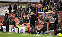 Pictured: Swansea manager Brendan Rodgers (C). Saturday 07 January 2012<br /> Re: FA Cup football Barnsley FC v Swansea City FC at the Oakwell Stadium, south Yorkshire.