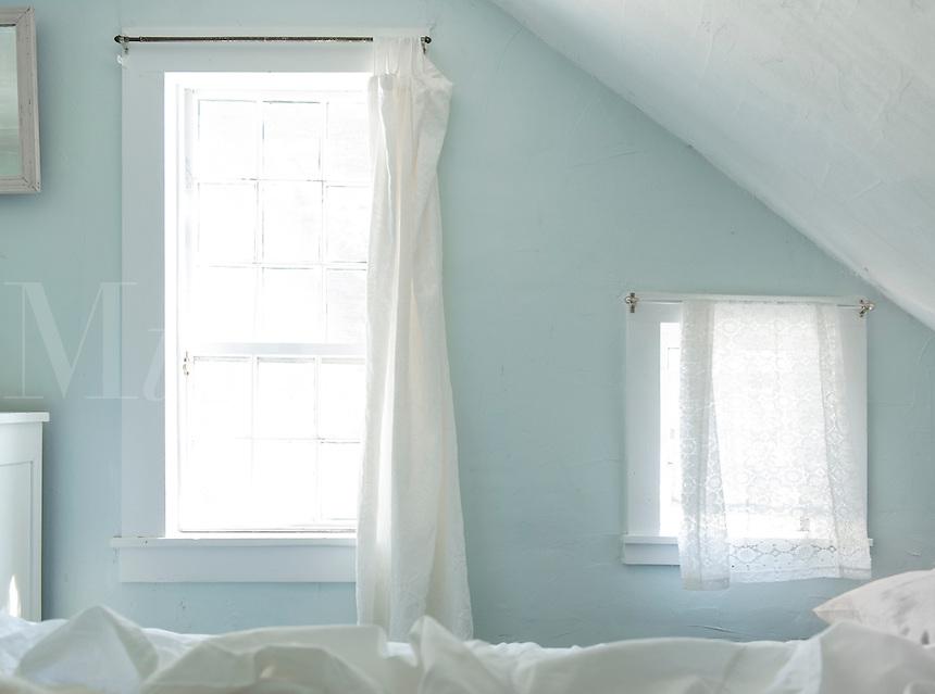 Moody bedroom windows.