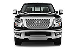 Car photography straight front view of a 2016 Nissan Titan SL 4 Door Pickup Front View