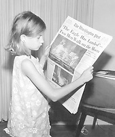 """The  Washington Post July 21, 1969, edition, with the headline """"'The Eagle Has Landed'<br /> Two Men Walk on the Moon"""""""