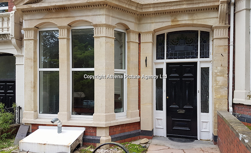 Pictured: St James Home in St James Gardens, Swansea, Wales, UK. Friday 28 April 2017<br /> Re: A residential care worker who abused a man with Down's syndrome - tying his chair to a table to stop him getting up and banging a spoon on a pot lid to keep him awake - has been sent to jail.<br /> Marie Baltazar worked at the St James' home in Uplands, Swansea, when she subjected the man in his 50s to the ill-treatment.<br /> Her activities came to light after a fellow employee reported her activities to the police, an act of public spiritedness commended by a judge.<br /> Baltazar, aged 36, of Alban Road in Llanelli, had previously pleaded guilty to the ill-treatment of a person lacking mental capacity when she appeared in the dock at Swansea Crown Court for sentencing.<br /> Robin Rouch, for the prosecution, told the court St James' was a residential care home for people with learning difficulties, and at the time of the offending in 2015 had around eight or nine residents.<br /> Baltazar worked as a carer at the home, and was married to its manager, Ashley Bowen.