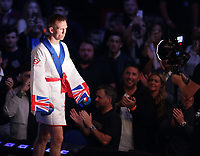 9th October 2021; M&S Bank Arena, Liverpool, England; Matchroom Boxing, Liam Smith versus Anthony Fowler; TROY WILLIAMSON(Darlington, England) walks to the ring before his British Super-Welterweight Title contest v  TED CHEESEMAN (Bermondsey, England)