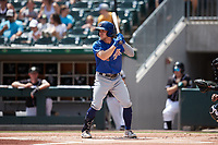 Taylor Walls (58) of the Durham Bulls at bat against the Charlotte Knights at Truist Field on August 28, 2021 in Charlotte, North Carolina. (Brian Westerholt/Four Seam Images)