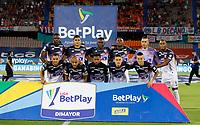 MEDELLÍN - COLOMBIA, 31-07-2021:Jugadores del Atlético Junior posan para una foto previo al  partido por la fecha 3 entre Independiente Medellin y Atlético Junior  como parte de la Liga BetPlay DIMAYOR II 2021 jugado en el estadio Atanasio Girardot  de la ciudad de Medellín / Players of Atletico Junior pose to a photo prior Match for the date 3 between Independiente Medellin  and Atletico Junior as part of the BetPlay DIMAYOR League II 2021 played at Atansio Girardot  stadium in Medellin city. Photo: VizzorImage / Donaldo Zuluaga / Contribuidor