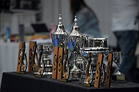 The trophies on display. 2020 New Zealand Championships Wellington Tennis Open finals at Renouf Centre in Wellington, New Zealand on Sunday, 20 December 2020. Photo: Dave Lintott / lintottphoto.co.nz