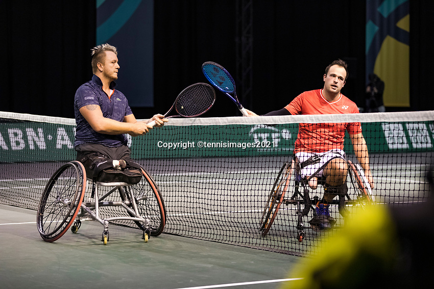 Rotterdam, The Netherlands, 4 march  2021, ABNAMRO World Tennis Tournament, Ahoy, First round wheelchair: <br /> Tom Egberink (NED) vs. Nicolas Peifer (FRA).<br /> Photo: www.tennisimages.com/