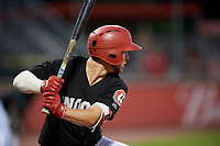 Chattanooga Lookouts left fielder Chris Paul (5) at bat during a game against the Jackson Generals on May 9, 2018 at AT&T Field in Chattanooga, Tennessee.  Chattanooga defeated Jackson 4-2.  (Mike Janes/Four Seam Images)