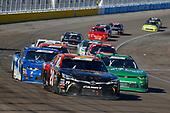 #20: Christopher Bell, Joe Gibbs Racing, Toyota Camry GameStop Tomb Raider and #11: Ryan Truex, Kaulig Racing, Chevrolet Camaro LeafFilter Gutter Protection