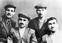 USSR 195?.From left to Right, Said Ahmed, Assad Khoshawi, Ali Khalil and General Barzani.URSS 195?. Said Ahmed, Assad Khoshawi, Ali Khalil et Mustafa Barzani en exil