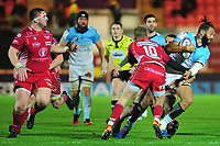 Alofa Alofa of Bayonne in action during the European Rugby Challenge Cup Round 4 match between the Scarlets and Bayonne at the Parc Y Scarlets in Llanelli, Wales, UK. Saturday 14 December 2019