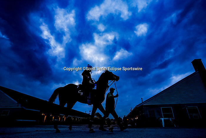 April 28, 2021: Scenes from the backside stable area as horses prepare for the Kentucky Derby and Kentucky Oaks at Churchill Downs. Scott Serio/Eclipse Sportswire/CSM