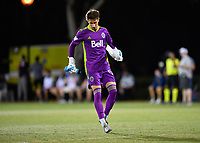 LAKE BUENA VISTA, FL - JULY 26: Thomas Hasal of Vancouver Whitecaps FC takes the field during a game between Vancouver Whitecaps and Sporting Kansas City at ESPN Wide World of Sports on July 26, 2020 in Lake Buena Vista, Florida.