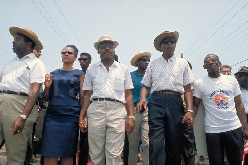 James Meredith March Through Mississippi, June 1966. Leading march into Jackson - front row, l to r - Ralph Abernathy, Coretta King, Martin Luther King Civil Rights. Black. Ralph Abernathy, Coretta Ki.James Meredith March Through Mississippi, June 1966. Leading march into Jackson - front row, l to r - Ralph Abernathy, Coretta King, Martin Luther King Civil Rights. Black. Ralph Abernathy, Coretta King.