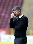 Motherwell v St Johnstone…05.05.18…  Fir Park    SPFL<br />Motherwell manager Steven Robinson<br />Picture by Graeme Hart. <br />Copyright Perthshire Picture Agency<br />Tel: 01738 623350  Mobile: 07990 594431