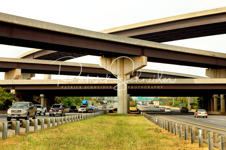 Bridge at Interstate 77 and Interstate 485 in Charlotte, North Carolina.