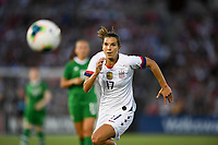 PASADENA, CALIFORNIA - August 03: Tobin Heath #17 during their international friendly and the USWNT Victory Tour match between Ireland and the United States at the Rose Bowl on August 03, 2019 in Pasadena, CA.