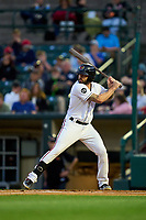 Rochester Red Wings Blake Swihart (1) bats during a game against the Worcester Red Sox on September 3, 2021 at Frontier Field in Rochester, New York.  (Mike Janes/Four Seam Images)