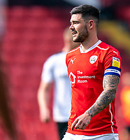 24th April 2021, Oakwell Stadium, Barnsley, Yorkshire, England; English Football League Championship Football, Barnsley FC versus Rotherham United; all smiles for captain Alex Mowatt of Barnsley