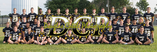 August 19, 2017- Tuscola, IL- The 2017 Tuscola Warrior Junior Varsity Football team. Standing from left are Cade Kresin, Gage Russell, Ryan Bartley, Amir Sykes, Michael Calderon, Alex Brooks, Hans Goodmann, Donovan Chester, Cole Cunningham, Creed Yets, C.J. Picazo, Brayden VonLanken, Lucas Sluder, Cade Morgan, and Haden Cothron. Third row from left are Ben Dixon, Caden Cradle, Cameron Homann, Jacob Kibler, Josh Dyer, Max Wyninger, Ethan Kamerer, Kyler Skaggs, Cole Robinson, Grant Hardwick, and David Culp. Second row from left are Dalton Grover, Gibson Wells, Sergio Martinez, Tim Jaster, Jake Reed, Ashton Jones, Jonah Pierce, Clayton Hausmann, Tytus Rennert, James Boyd, Turner Hastings, Will Little, Matthew Cantu, and Blake Schultz, Sitting from left are Bradly Mast, Lucas Kresin, Zane Sanford, Tyler Walker, Ben Tiezzi, Austin Becker, Nathan Koester, Logan Tabeling, Eric Brewer, and Brandon Douglas. Photo: Douglas Cottle]