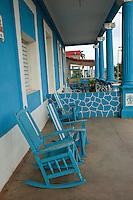 Cuba, Pinar del Rio Region, Viñales (Vinales).  Front Porch.