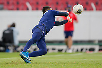 , MEXICO - : David Ochoa #20 of the United States warming up during a game between  and undefined at  on ,  in , Mexico.