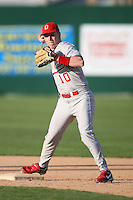 February 21, 2009:  Shortstop Cory Rupert (10) of The Ohio State University during the Big East-Big Ten Challenge at Jack Russell Stadium in Clearwater, FL.  Photo by:  Mike Janes/Four Seam Images