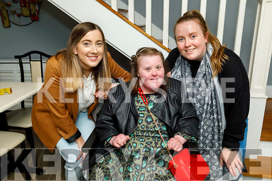 Niamh Dowling from Abbeydorney celebrating her birthday in La Scala on Friday. L to r: Nicole Commerford, Niamh Dowling and Fiona O'Halloran.