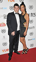 """Robert Osman & Veronica Jean Trickett attend the """"My Hero"""" Raindance Film Festival UK film premiere, Vue Piccadilly cinema, Lower Regent Street, London, England, UK, on Friday 25 September 2015. <br /> CAP/CAN<br /> ©Can Nguyen/Capital Pictures"""