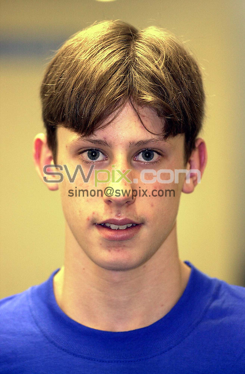 Pix:Ben Duffy/SWpix...World Class Potential Swimming camp(Boys ages 14-17)...23/02/2001..COPYRIGHT PICTURE>>SIMON WILKINSON..Chris Hatkinson pictured at the British World Class swimming camp