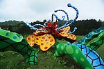 Yayoi Kusama's piece of art in Matsudai. Matsudai is the center of Echigo-Tsumari Art Field, where every three years a huge art festival is held. Around this area there a hundrerds of pieces of art spread through the territory, creating an amazing outdoor museum. Matsudai. Nigata. Japan.<br /> <br /> L'œuvre d'art de Yayoi Kusama à Matsudai. Matsudai est le centre du domaine artistique d'Echigo-Tsumari, où se tient un grand festival d'art tous les trois ans. Autour de cette zone, des centaines d'œuvres d'art se sont répandues sur le territoire, créant ainsi un incroyable musée en plein air. Matsudai. Nigata. Japon.