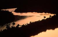 Menehune Fishpond (Alekoko) and Huleia River at sunset, near Nawiliwili Kauai.