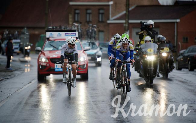 World Champion Michal Kwiatkowski (POL/Ettix-Quickstep) checks out the competition in the race finale<br /> <br /> 70th Dwars Door Vlaanderen 2015