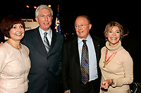 May 20 2005, Montreal (Qc) Canada <br /> <br /> Gilles Duceppe and his wife (L), Bernard Landry (M-R) and his companion Anne Renaud (R) at Independance Plus Que Jamais concert at Metropolis to commemorate the 25th anniversary of the first Referendum on Quebec Independance<br /> Photo : (c) 2005Pierre Roussel