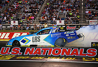 Sep 2, 2017; Clermont, IN, USA; NHRA funny car driver Tim Wilkerson during qualifying for the US Nationals at Lucas Oil Raceway. Mandatory Credit: Mark J. Rebilas-USA TODAY Sports