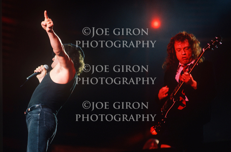 Various Live photographs of the rock band, AC-DC