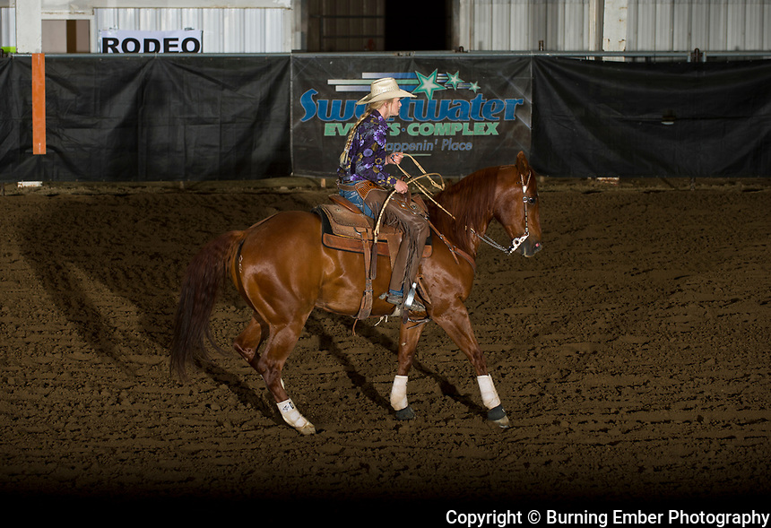 Bailey Gibbons in the Reined Cow Horse event at the Wyoming State High School Finals Rodeo in Rock Springs Wyoming.  Photo by Josh Homer/Burning Ember Photography.  Photo credit must be given on all uses.