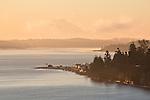 Port Townsend, Puget Sound, Mount Rainier, sunrise, Washington State, Pacific Northwest, USA,