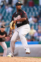 June 4, 2009:  Jerome Williams of the Sacramento River Cats, Pacific Cost League Triple A affiliate of the Oakland Athletics, during a game at the Spring Mobile Ballpark in Salt Lake City, UT.  Photo by:  Matthew Sauk/Four Seam Images