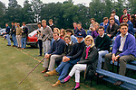 Polo spectators Cirencester Park. Cirencester Royal Agricultural College, Gloucestershire 1990.