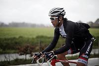 Fumi Beppu (JAP/Trek-Segafredo) in the rain<br /> <br /> 71st Dwars door Vlaanderen (1.HC)