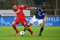 Furkan Zorba (Eintracht Frankfurt) gegen Adil Chihi (FSV Frankfurt)- 10.11.2016: FSV Frankfurt vs. Eintracht Frankfurt, Frankfurter Volksbank Stadion