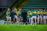 Kerry Minor manager James Costello with The Kerry team at half time during the Munster Minor Semi-Final between Kerry and Cork in Austin Stack Park on Tuesday evening.