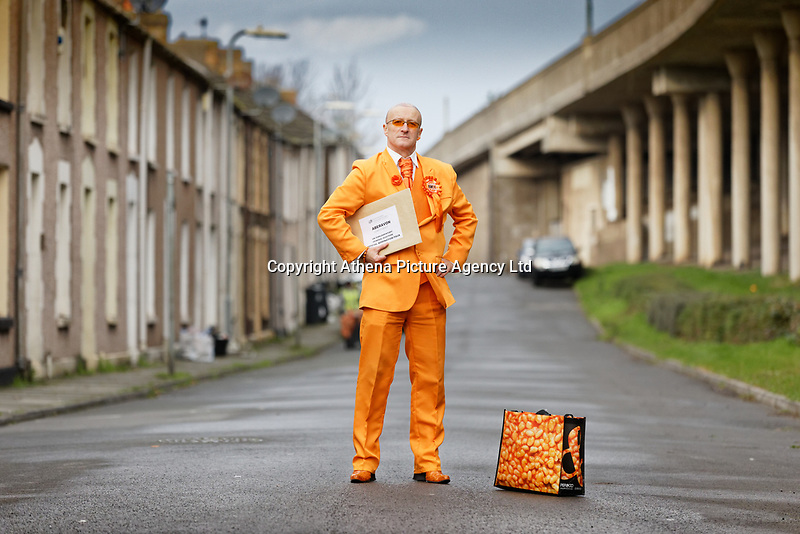 Captain Beany (real name Barry Kirk), who will be running as an independent candidate for next month's general election for the Aberavon Constituency in Port Talbot, Wales, UK. Wednesday 13 November 2019