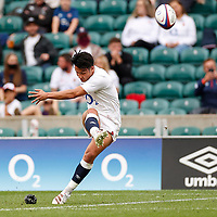 10th July 2021; Twickenham, London, England; International Rugby Union England versus Canada; Marcus Smith of England with his place kick conversion